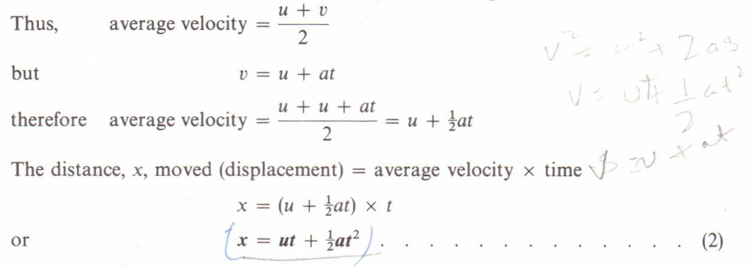 equations of uniformly accelerated motion physics homework help equations of uniformly accelerated motion