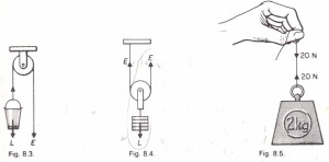 The single fixed pulley