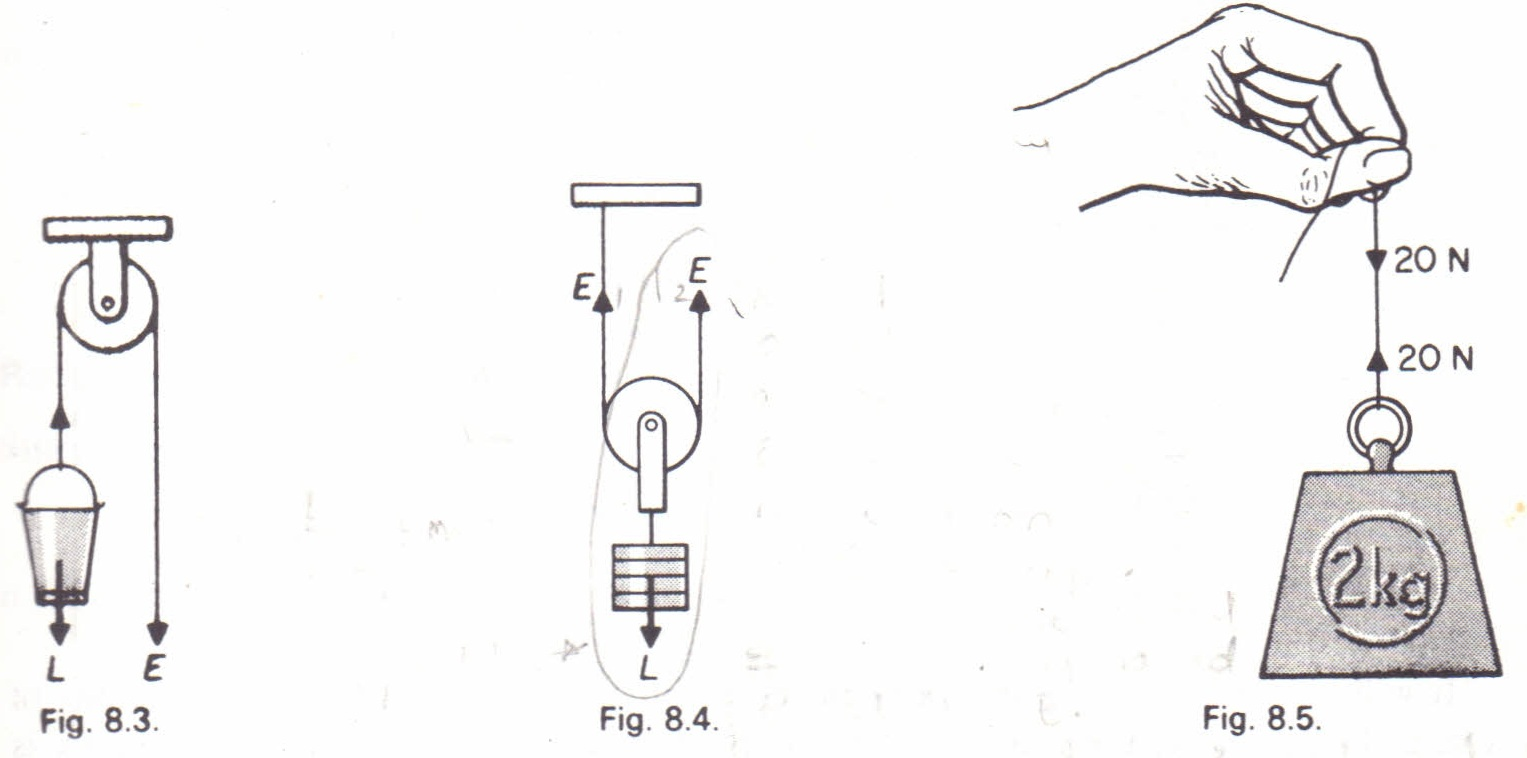 the single fixed pulley physics homework help physics assignments the single fixed pulley