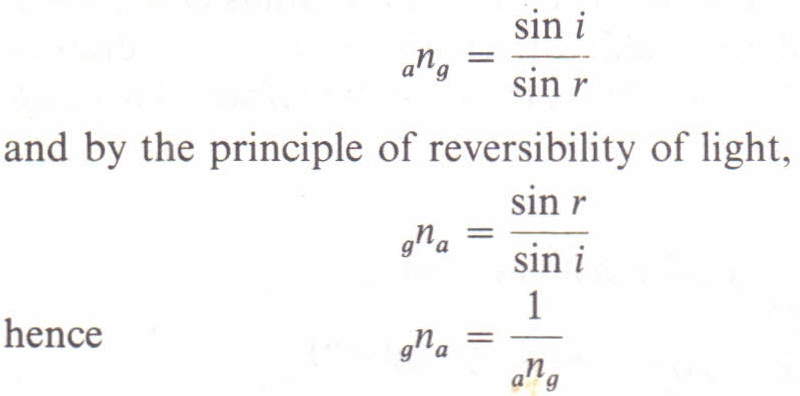 The Principle Of Reversibility Of Light Physics Homework