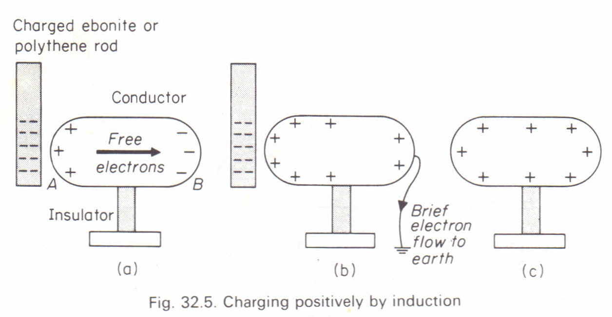charging by induction physics homework help physics assignments charging by induction