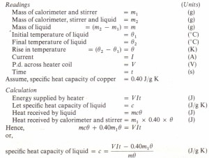 To measure the specific heat capacity of a liquid