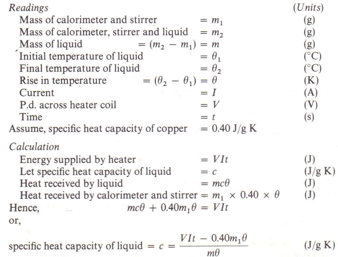 Specific heat capacity: why it is needed and what is its meaning 72
