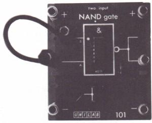 A NAND gate as an inverter
