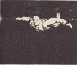 "A sky diver in a horizontal ""spread eagle"" maximizes the air drag."