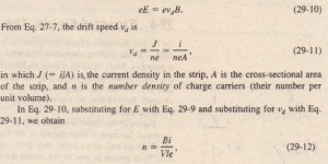 Crossed Fields The Hall Effect Physics Homework Help